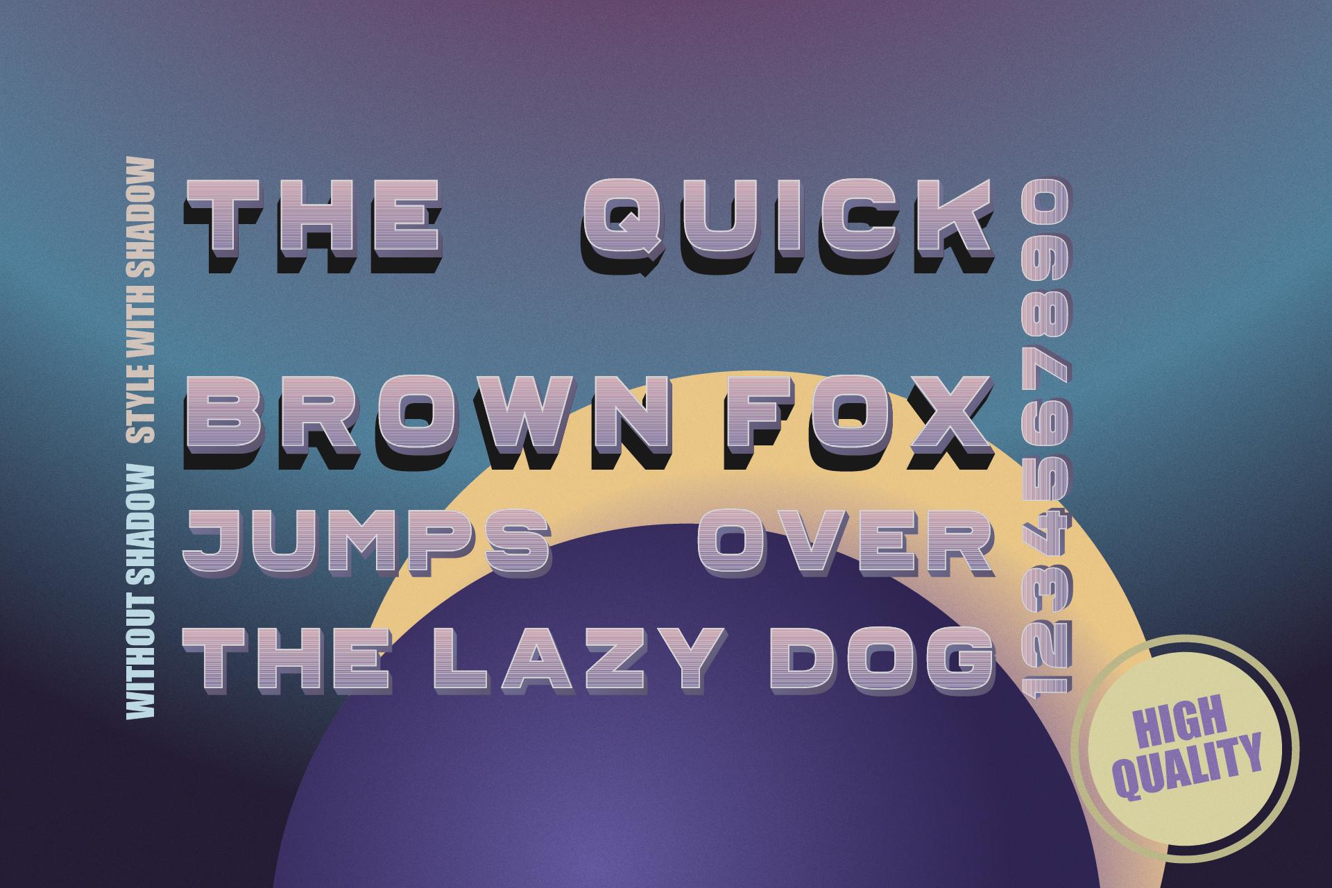 Fairbanks - sans serif color font example image 5