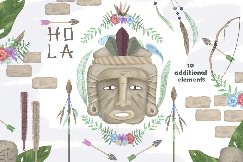 Aztecs. Tribal Set. part2 example image 4
