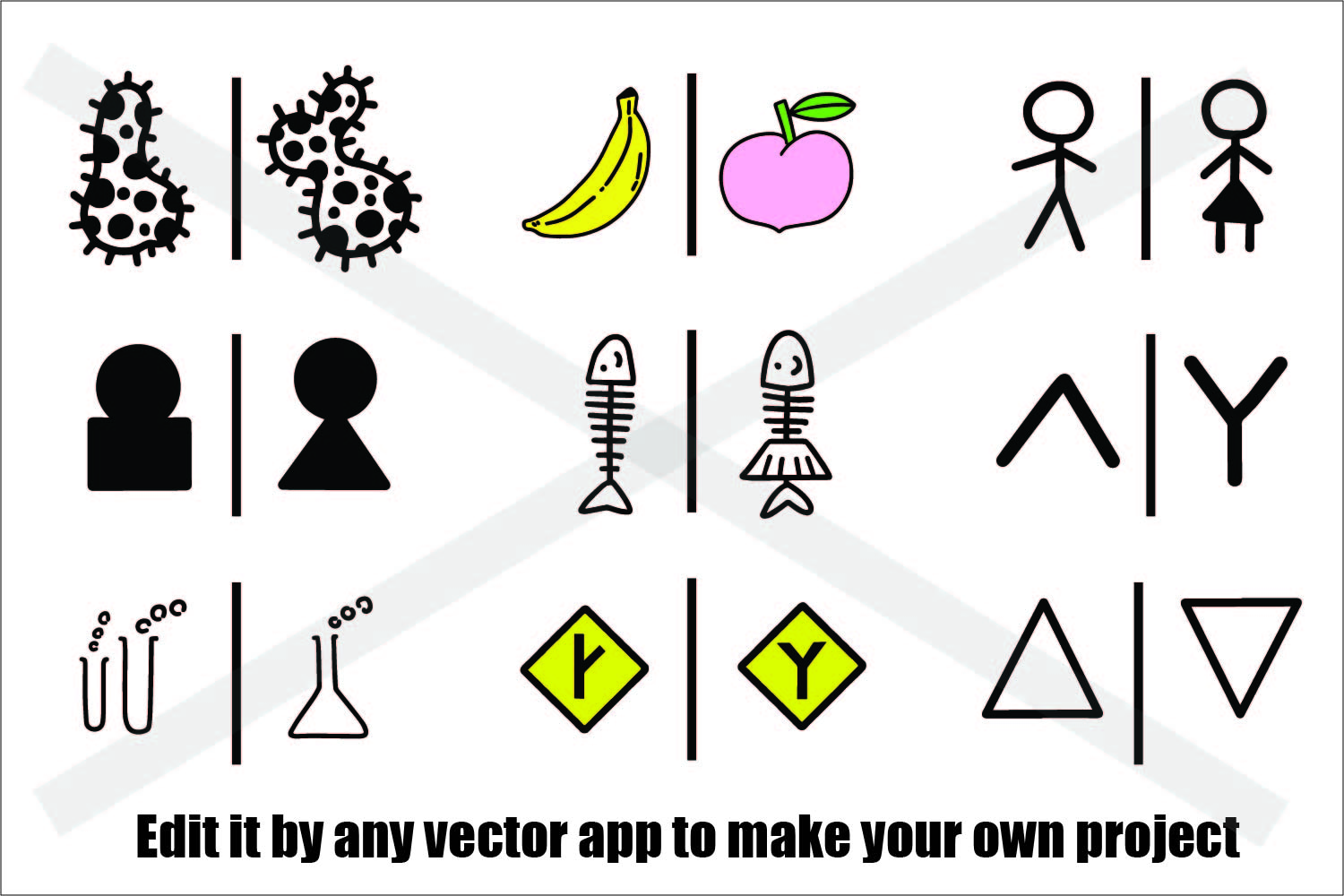 Male and Female Symbol - SVG/EPS/JPG/PNG example image 2