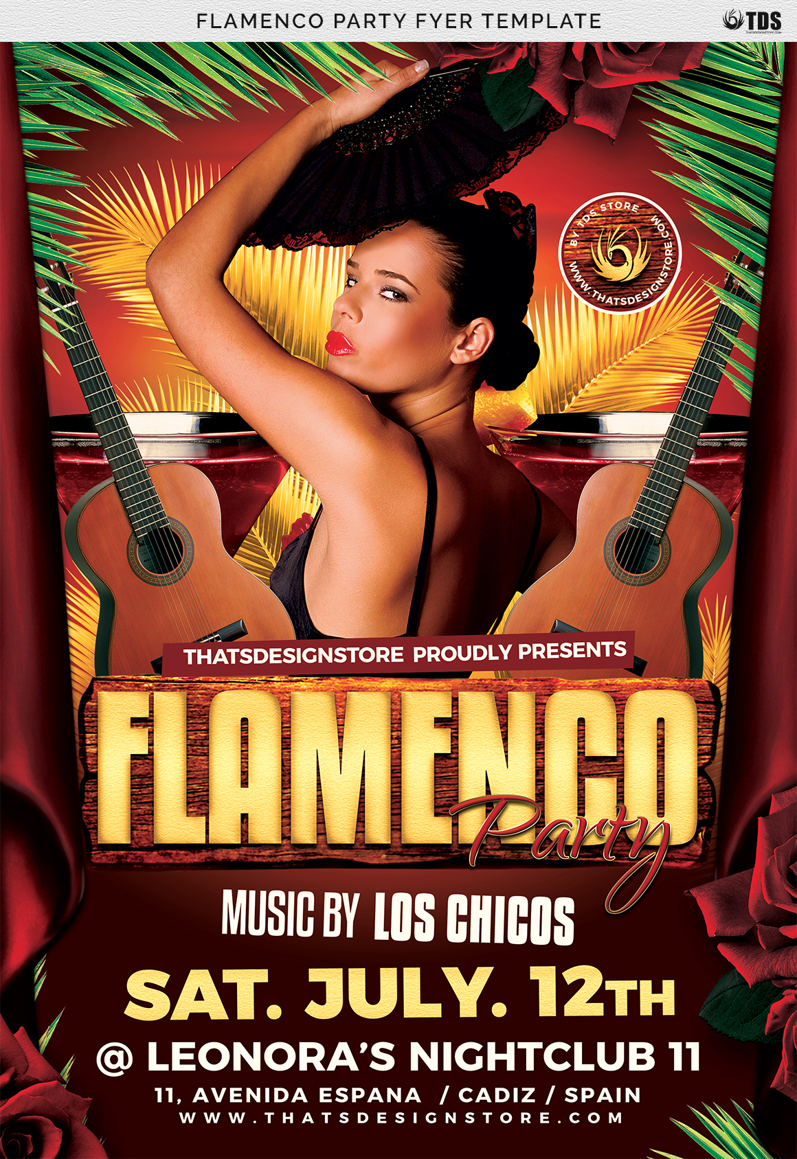 Flamenco Party Flyer Template example image 7