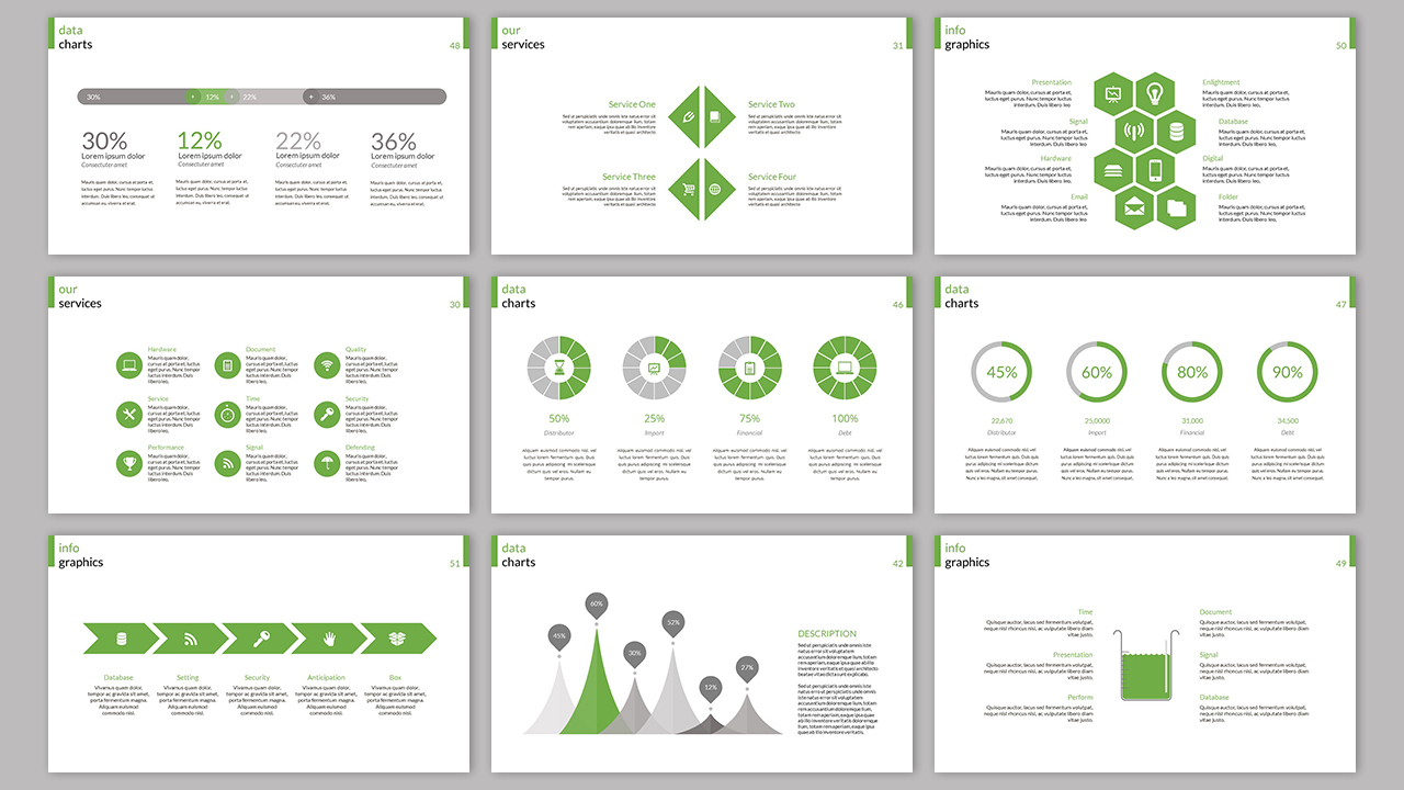 Clarity Company Minimal PowerPoint Template example image 5