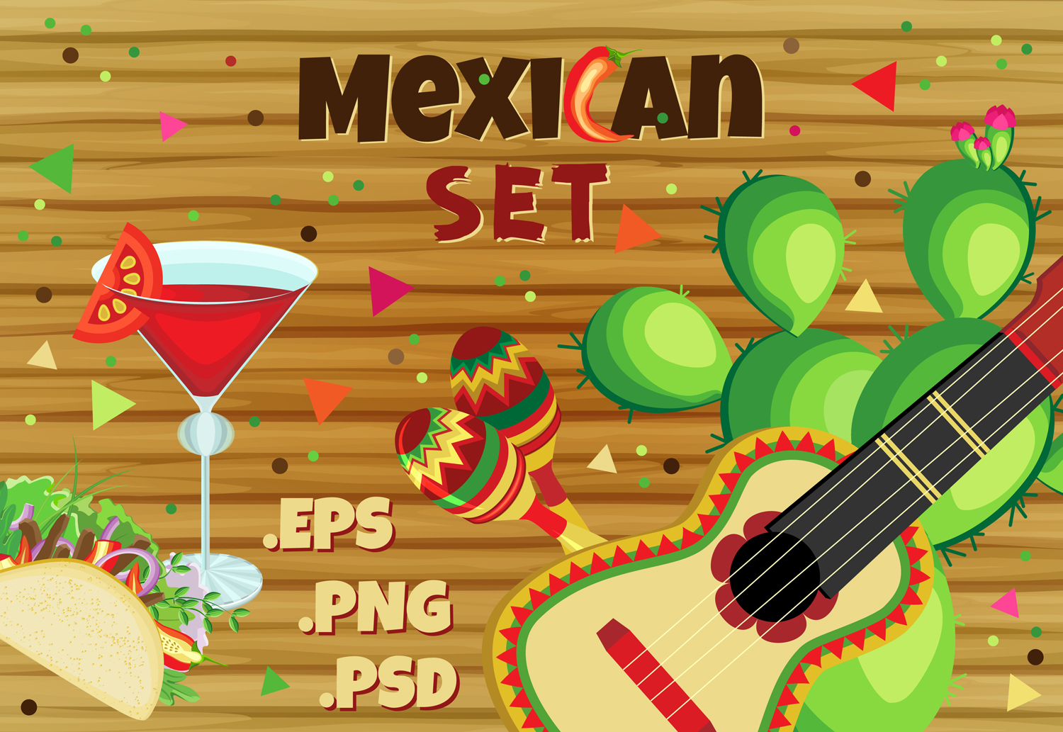 Cinko de Mayo holiday set example image 1