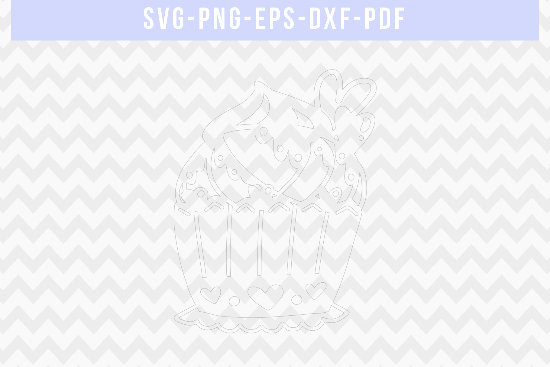 Heart Cupcake Papercut Template, Valentine Cut File SVG PDF example image 2