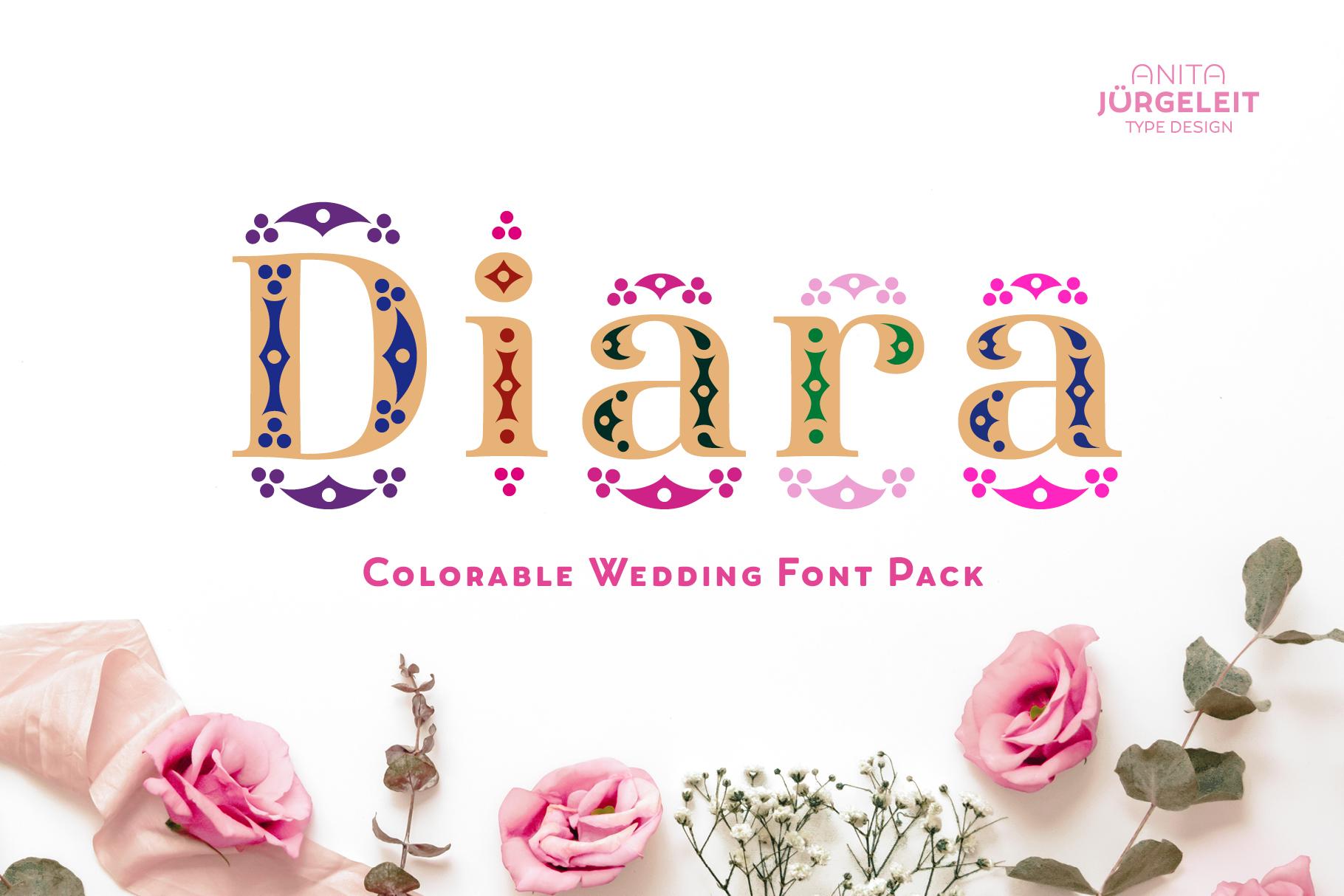 Diara Wedding Font example image 1