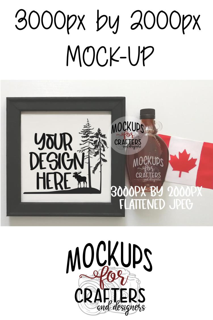 REVERSE CANVAS mock-up, Canadian theme example image 2