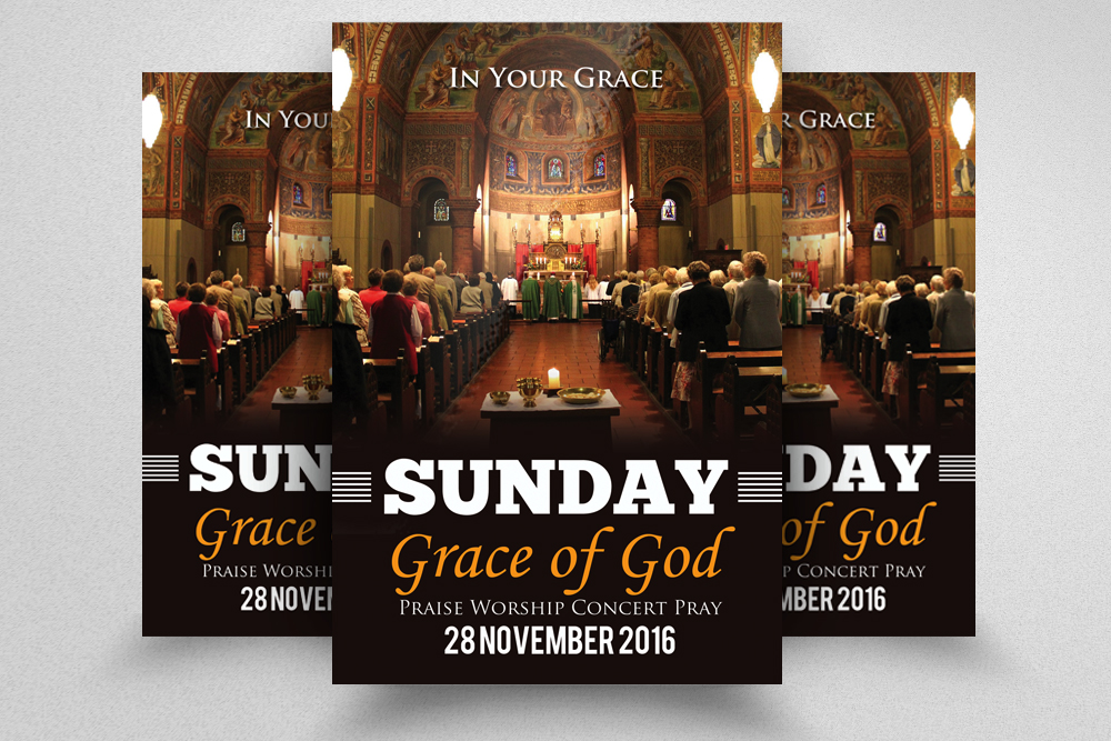 Emmanuel Church Flyer Template example image 1