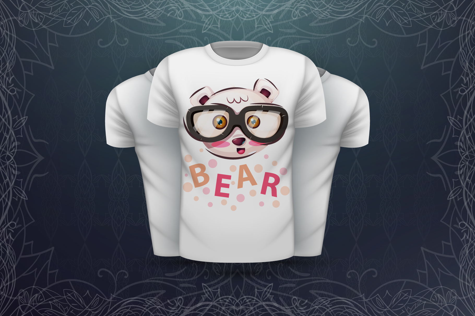 Set cute animal - for print t-shirt example image 5