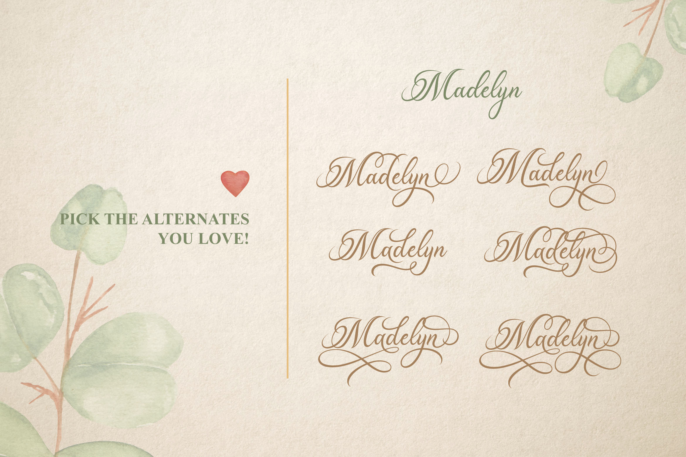 Madelican Calligraphy Font example image 5