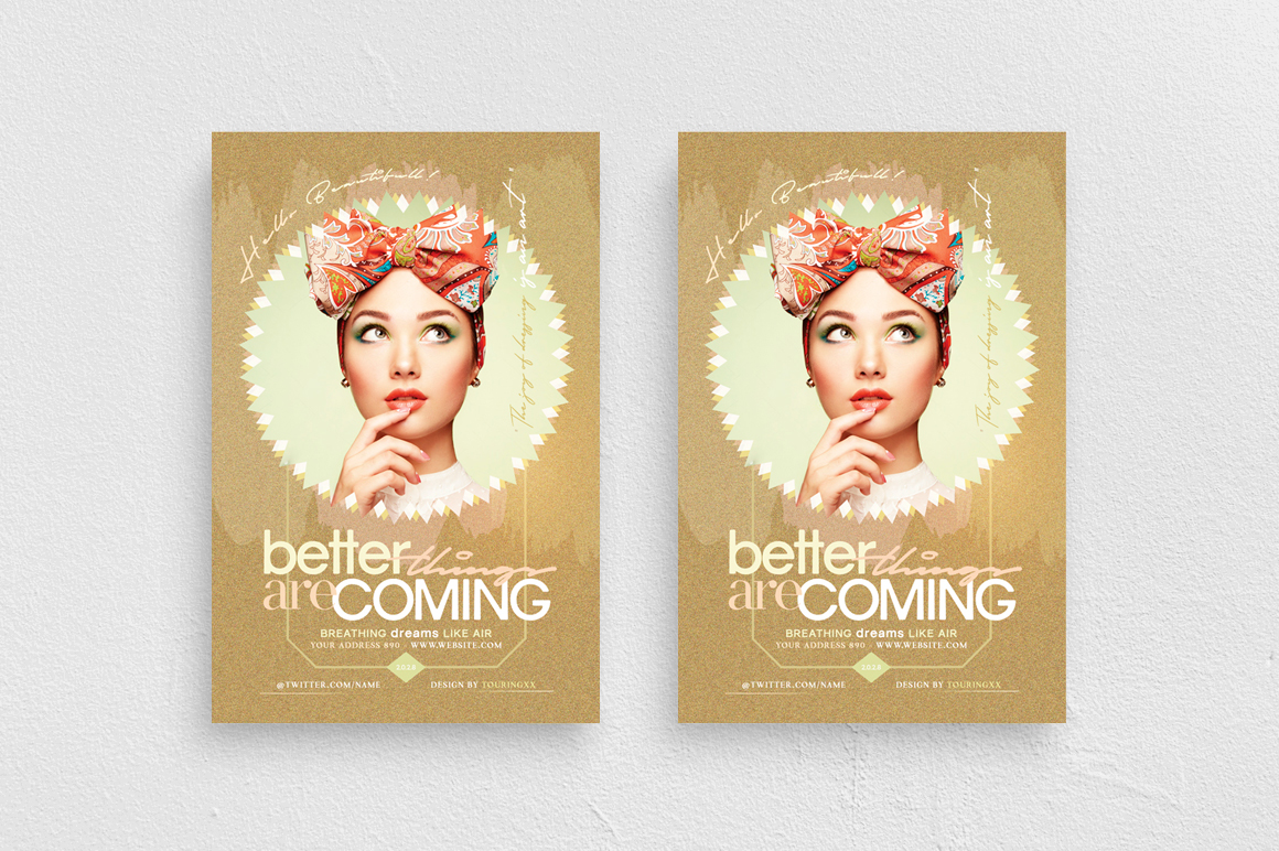 Better Things Are Coming Flyer Template example image 1