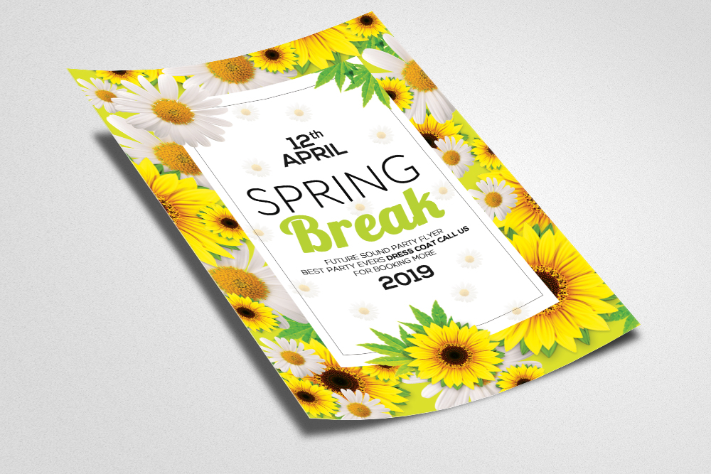 Spring Break Flyer Template example image 2