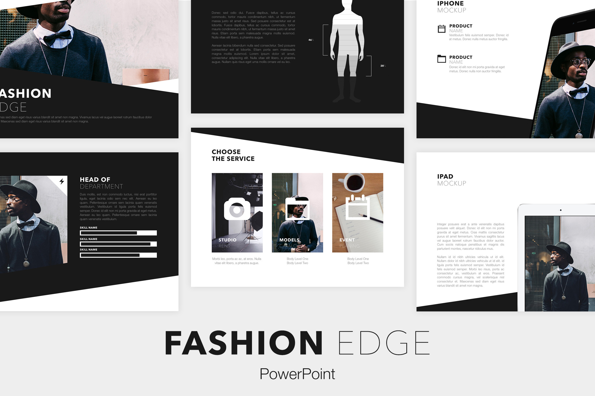 Fashion Edge PowerPoint Template example image 1