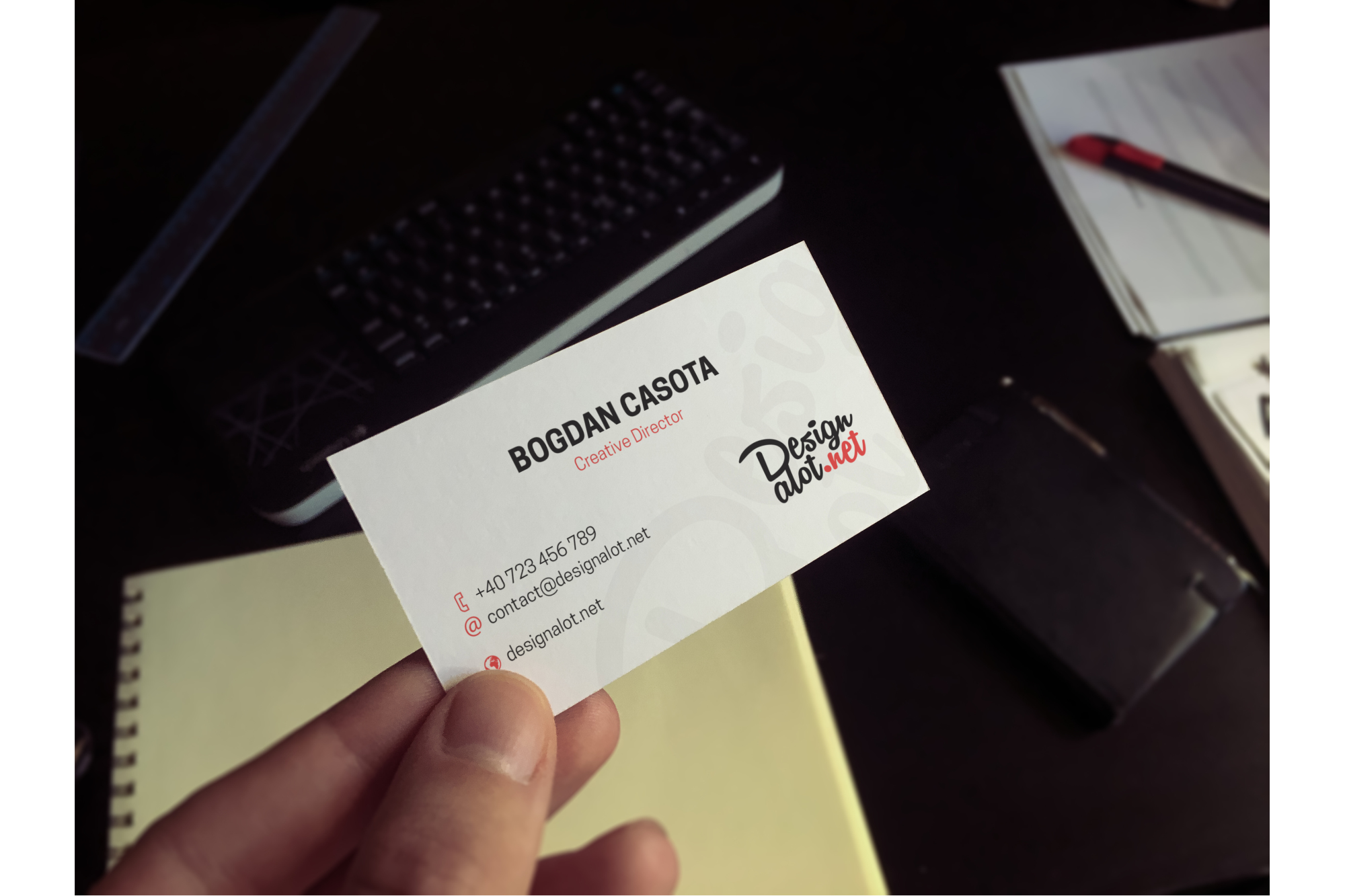 5 Realistic Business Cards Mockups - 50% OFF example image 2