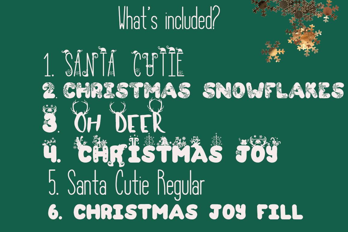the christmas fonts bundle with 6 fonts font bundles