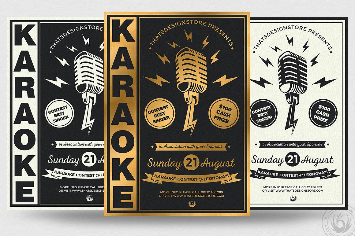 10 Karaoke Flyer Bundle example image 10