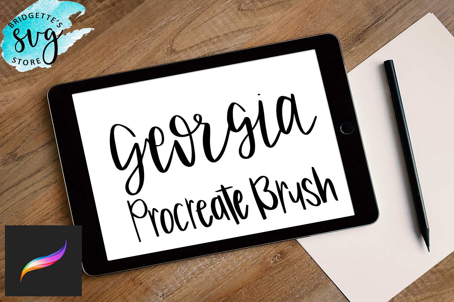 Procreate Brush for Lettering example image 1