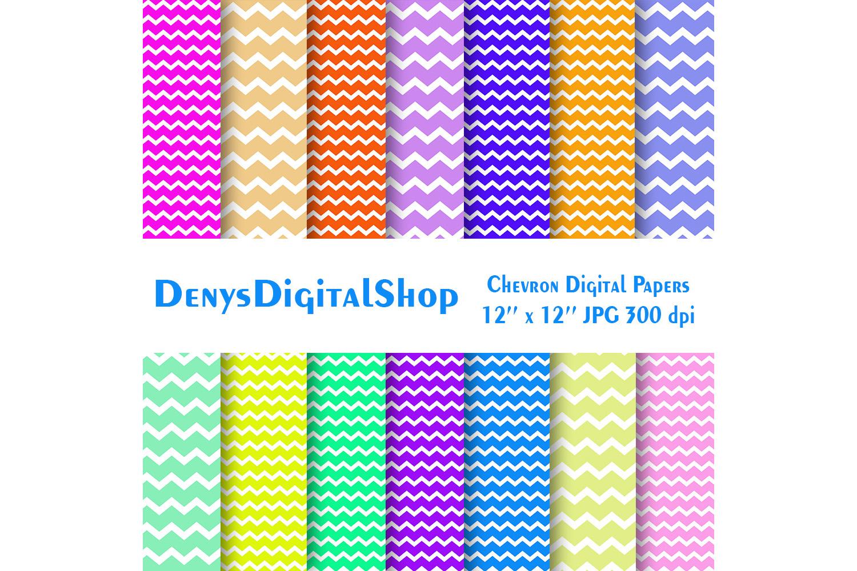 Chevron Digital Paper, Zigzag Digital Paper, Basic, SALE example image 2