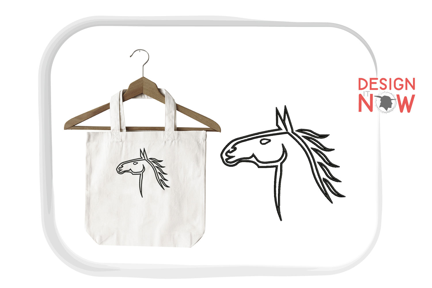 Horse Applique Embroidery Design, Horse Embroidery Pattern example image 3