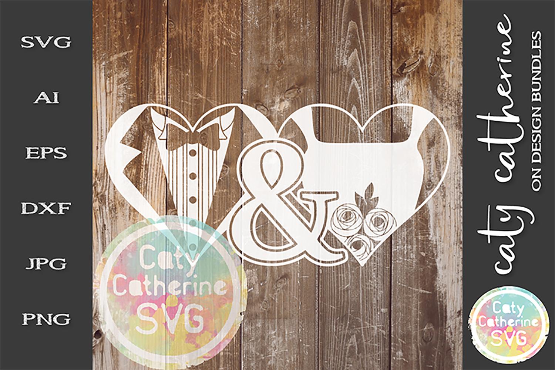 Mr & Mrs Bride & Groom Wedding SVG Cut File example image 1