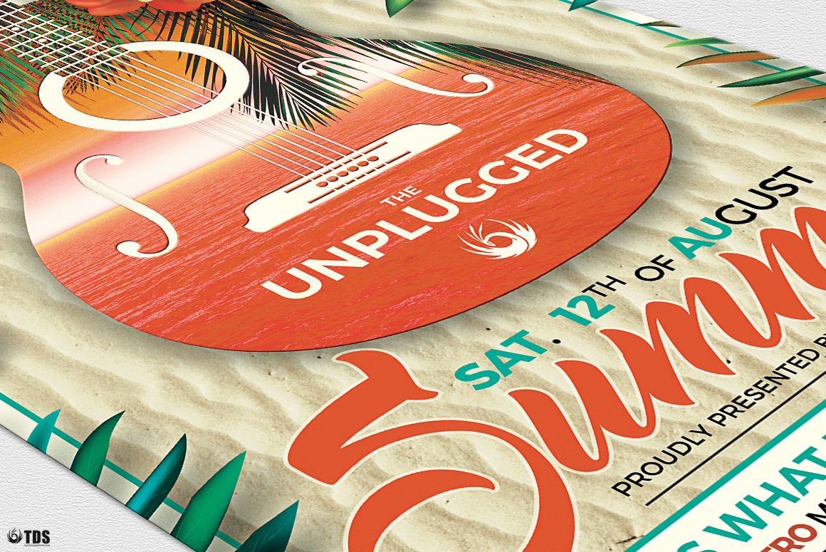Summer Unplugged Flyer Template V2 example image 6