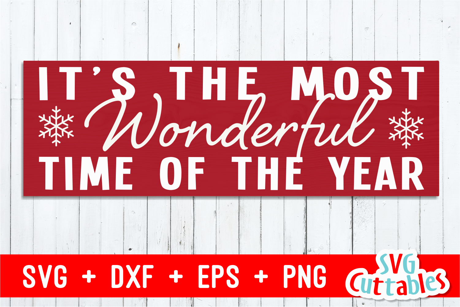 It's the most wonderful time of the year |Christmas Cut File example image 1