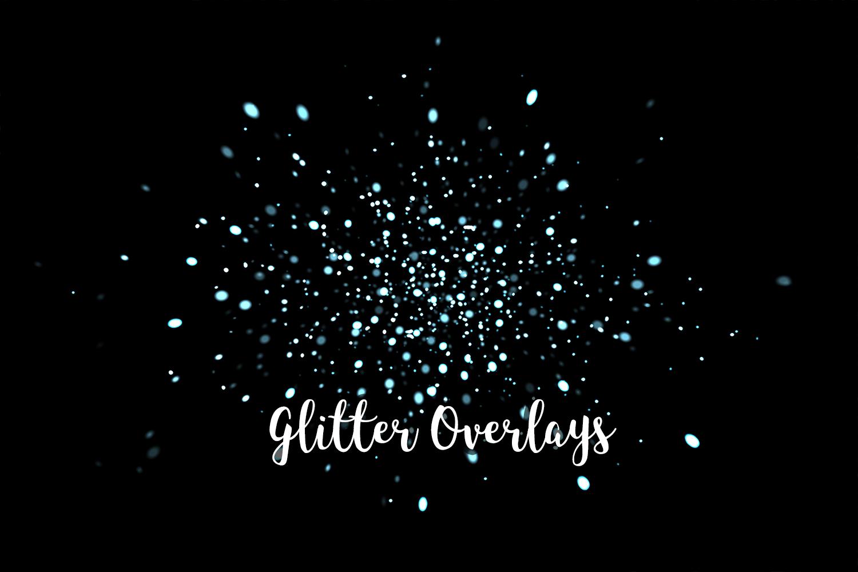 Glitter Dust Overlays, Glitter Bokeh Texture Overlays example image 6