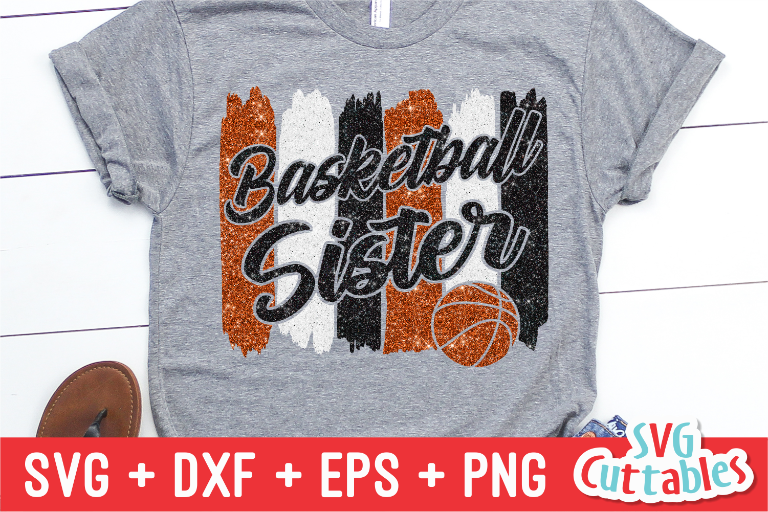 Basketball Sister | SVG Cut File example image 1