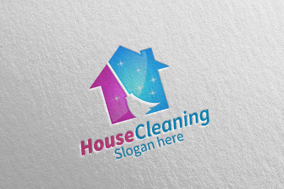 House Cleaning Service Logo Design example image 5