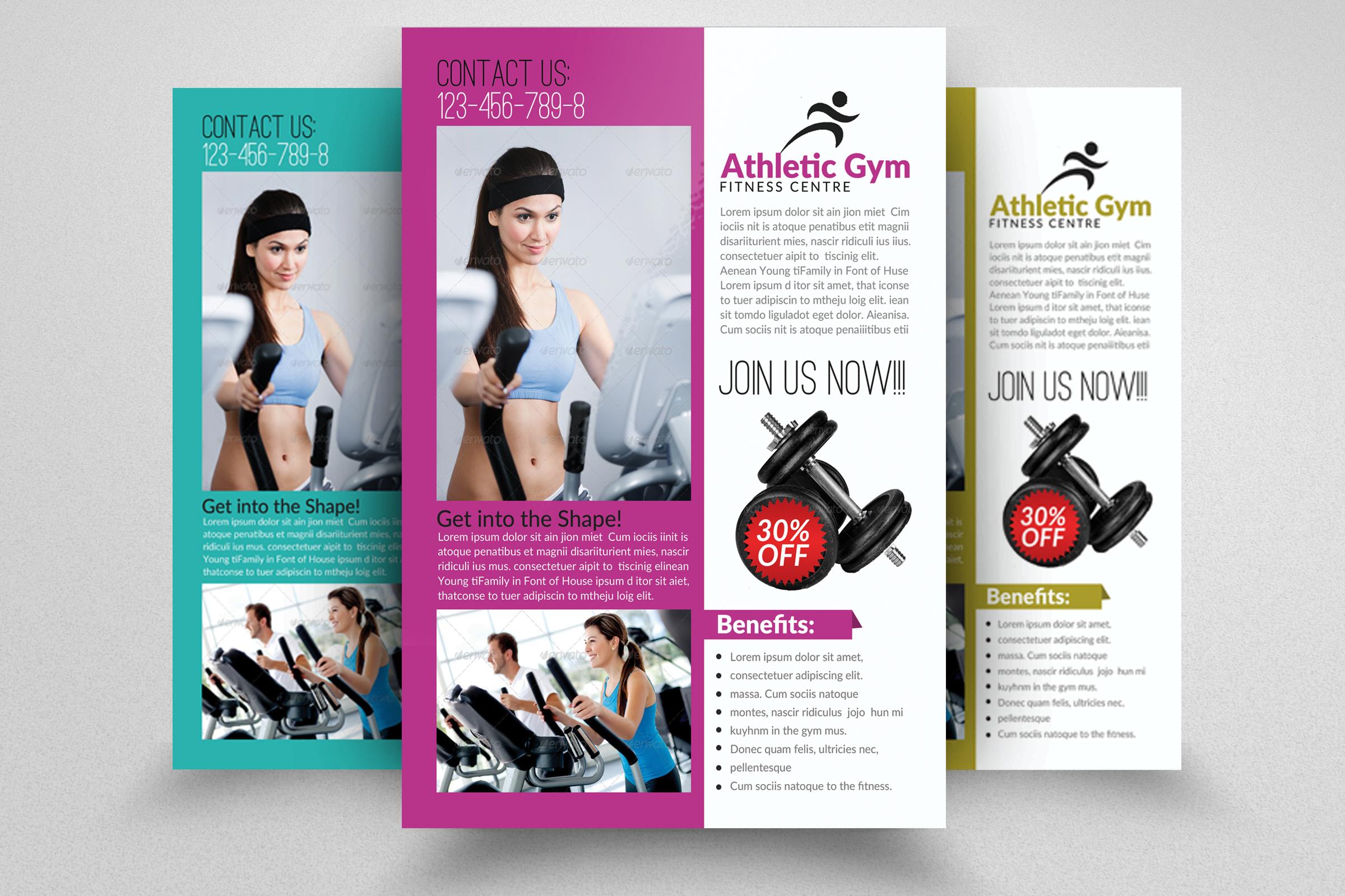 6 Body Fitness Gym Flyers Bundle example image 5