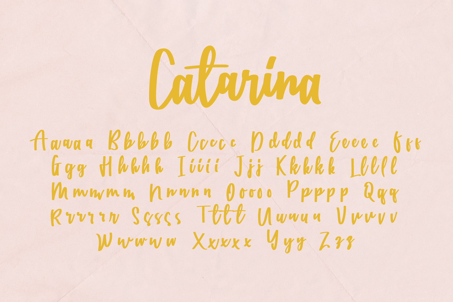 Catarina - a Handwritten Font example image 8