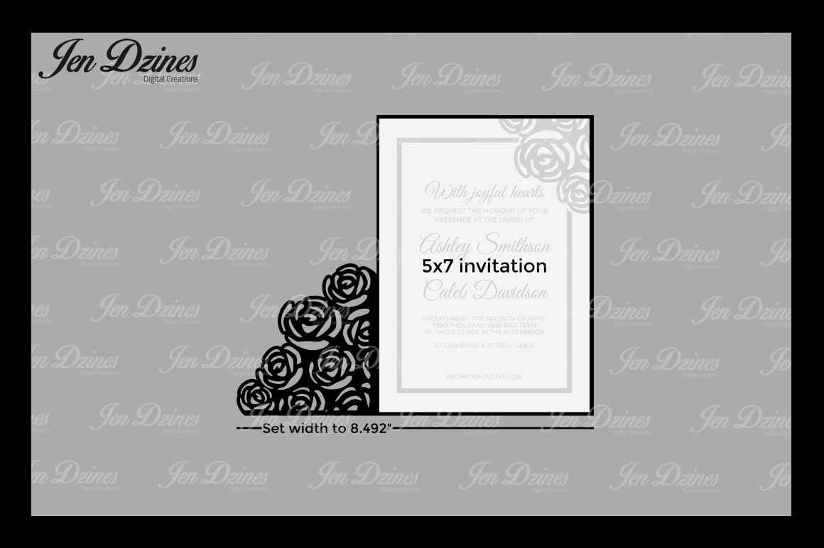 Wedding Gate Card SVG DXF EPS PNG example image 2