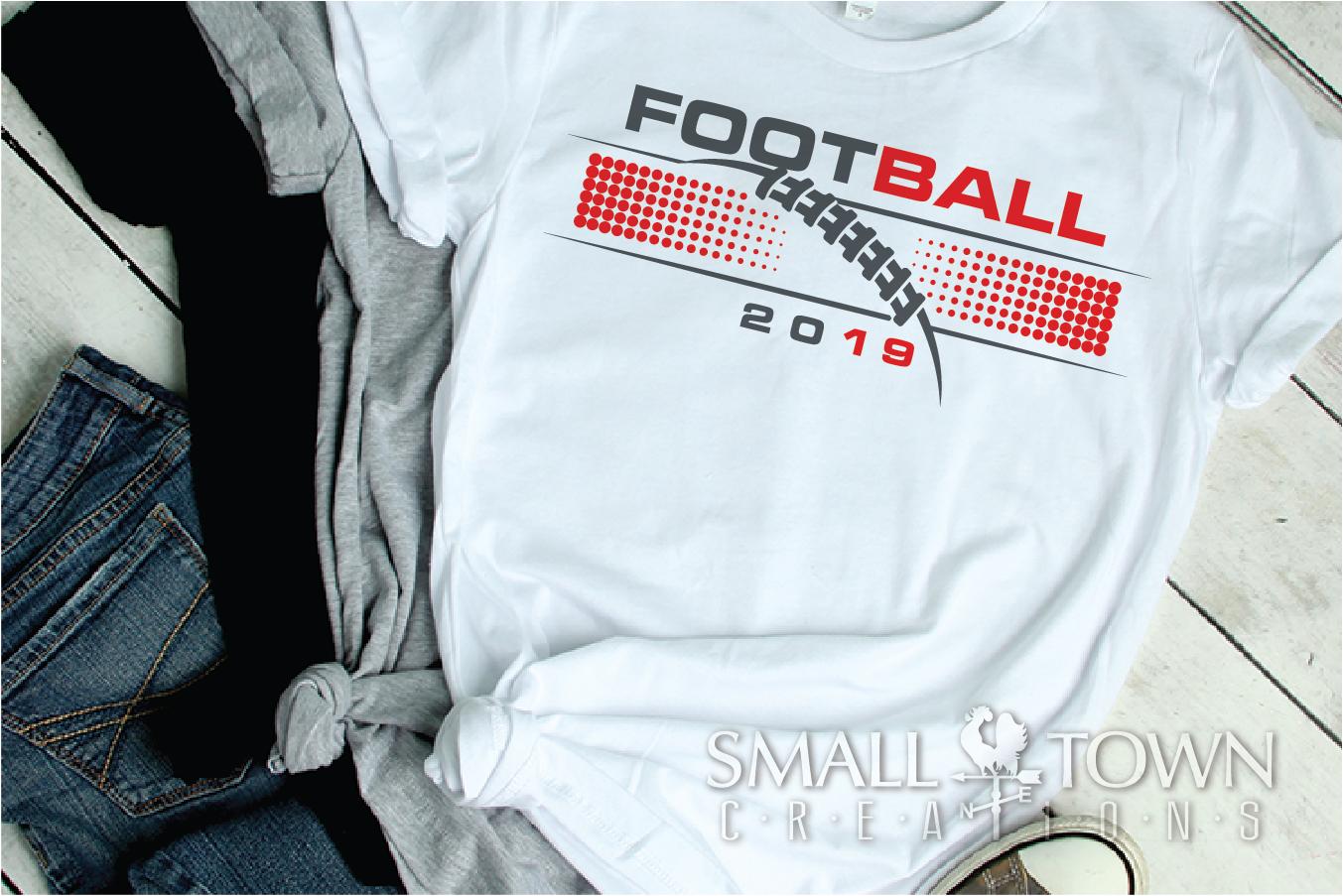 Football, Football ball, Team logo, PRINT, CUT & DESIGN example image 2