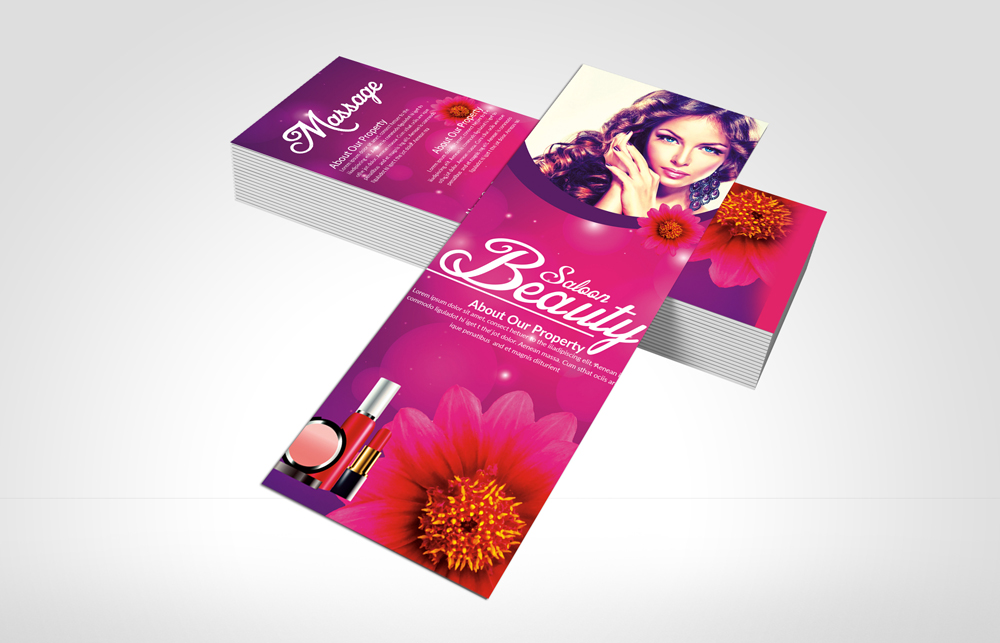 Beauty Salon Rack Card Template example image 3