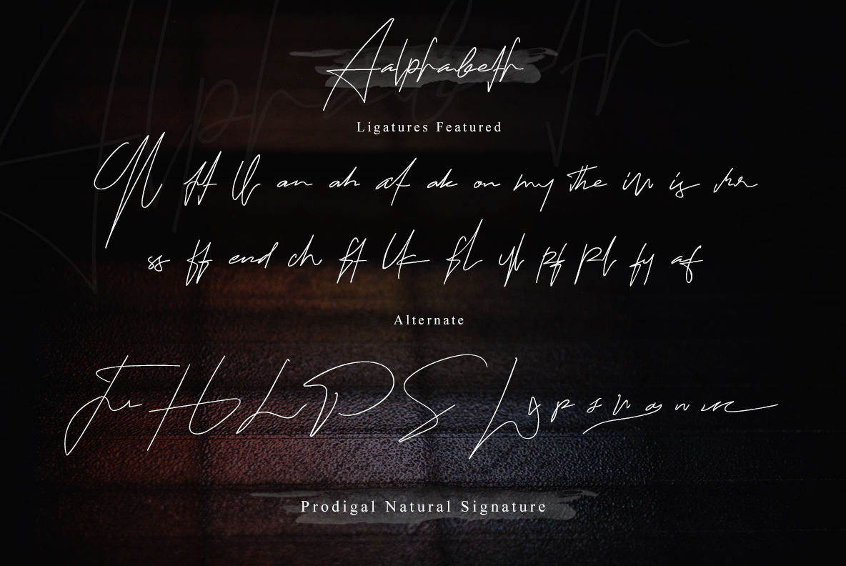Prodigal Natural signature & Extra swash example image 19