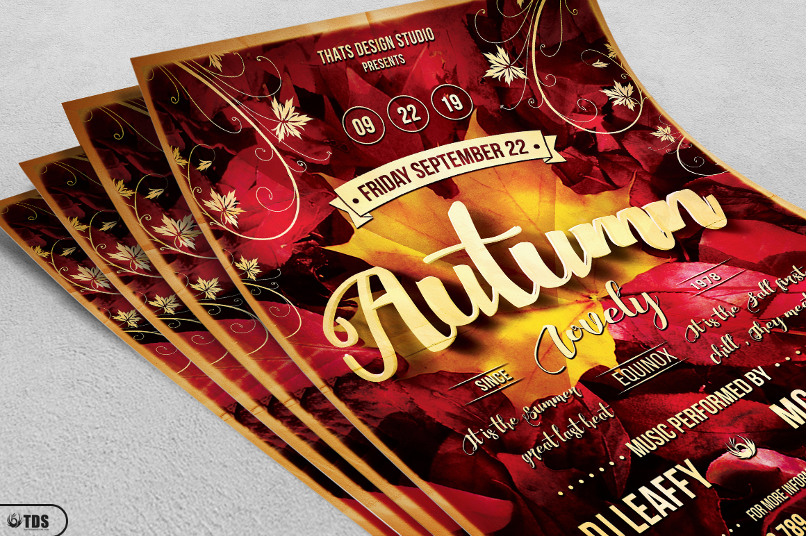 Autumn Equinox Flyer Template V1 example image 5