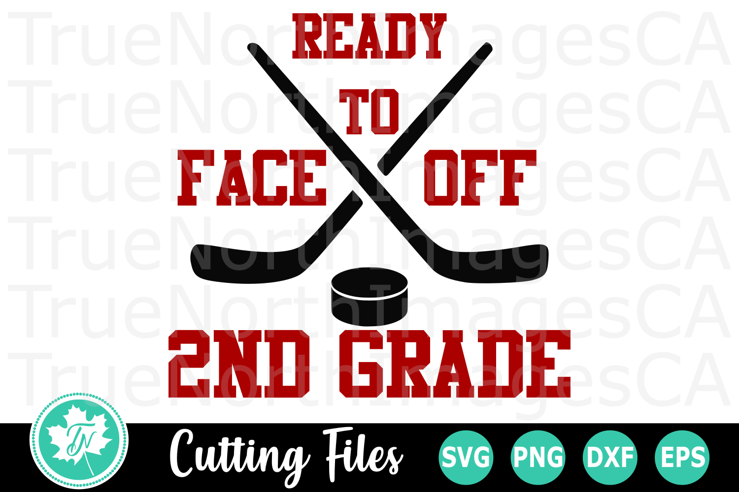 Ready to Face off 2nd Grade - A School SVG Cut File example image 1