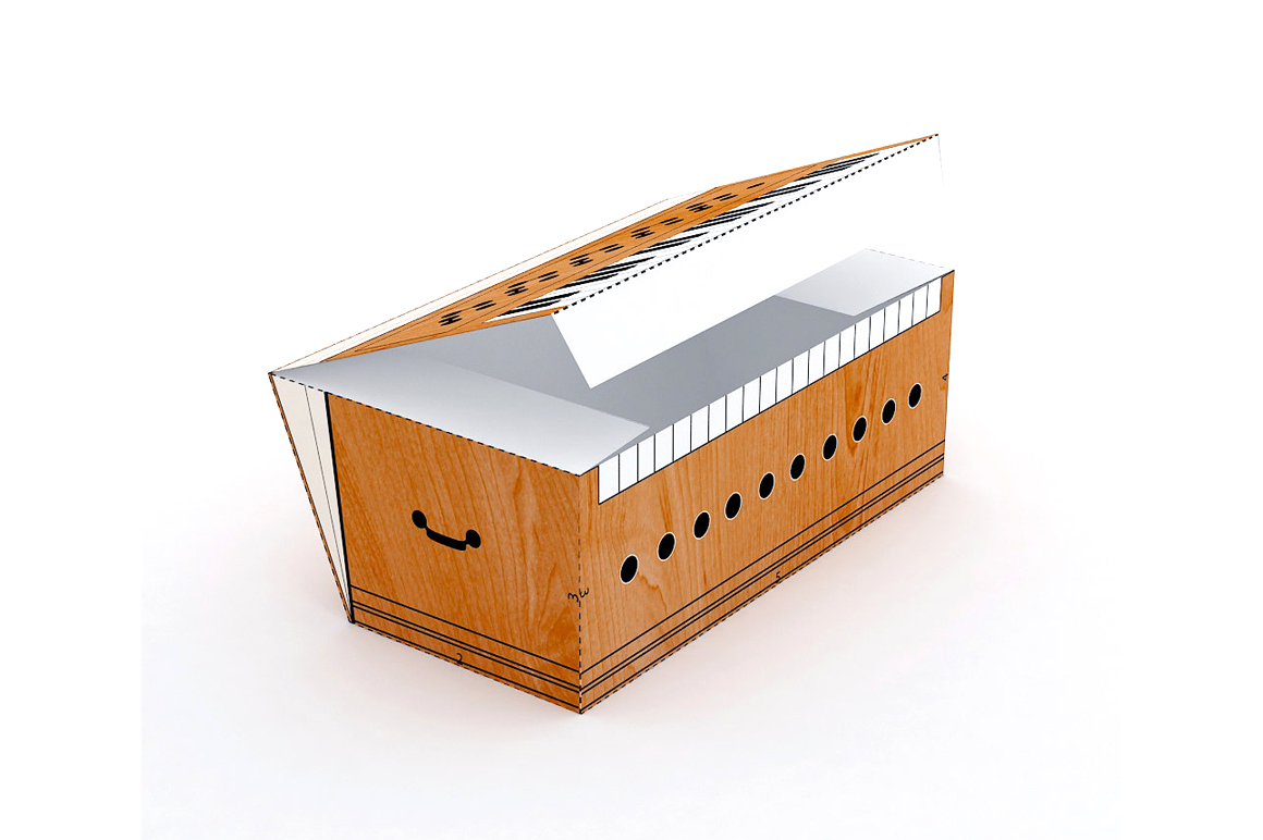 DIY Harmonium favor - 3d papercraft example image 2