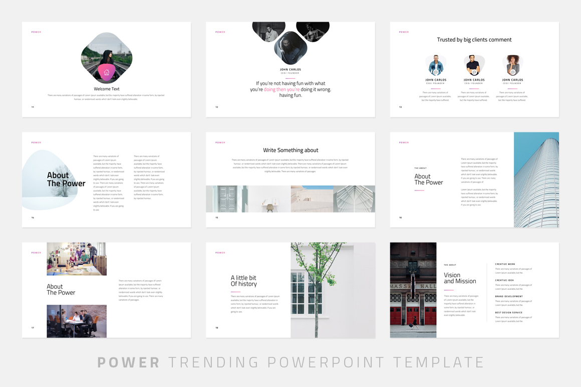 power minimal powerpoint template