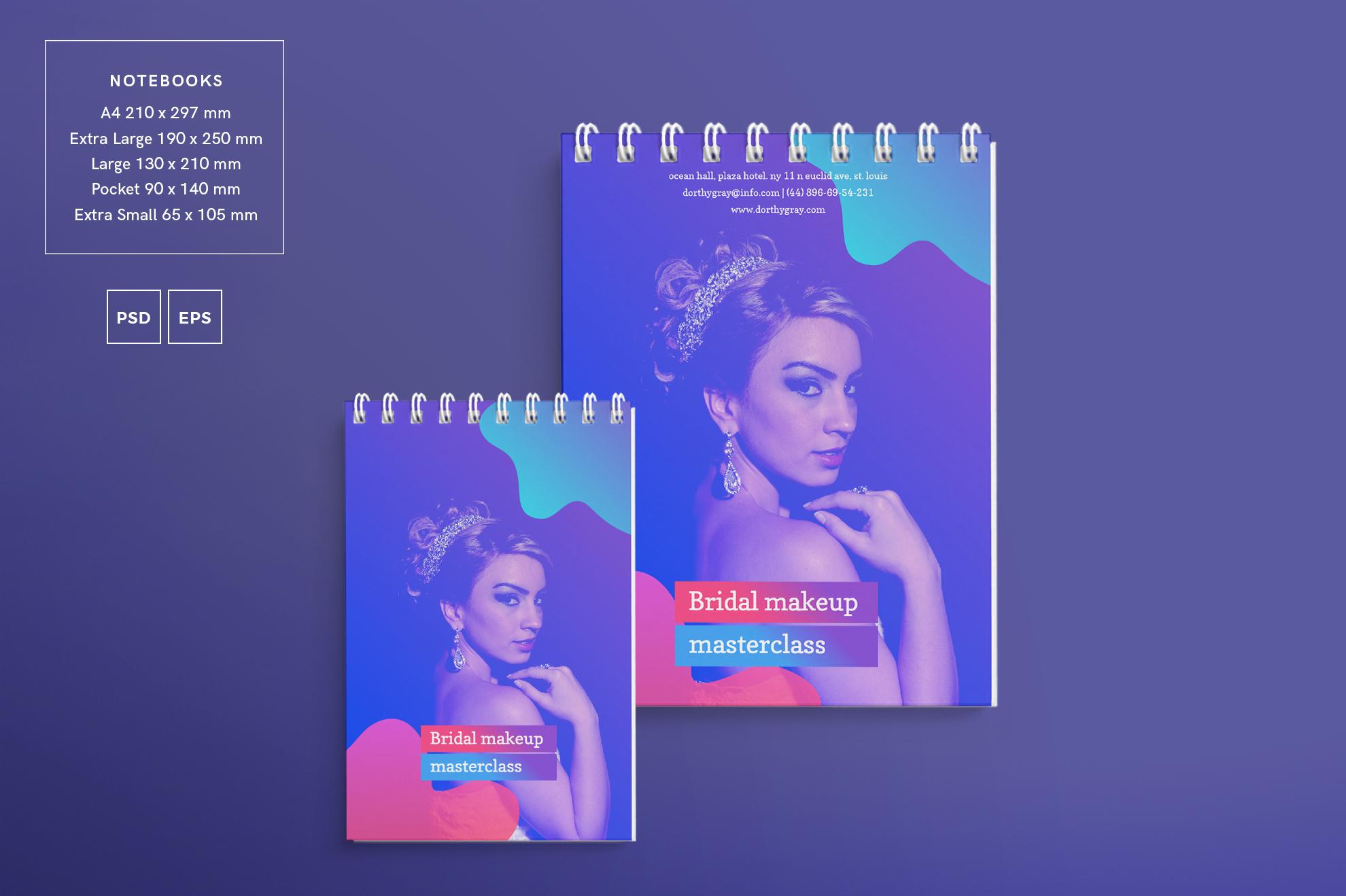 Bridal Makeup Masterclass Workout Design Templates Bundle example image 7