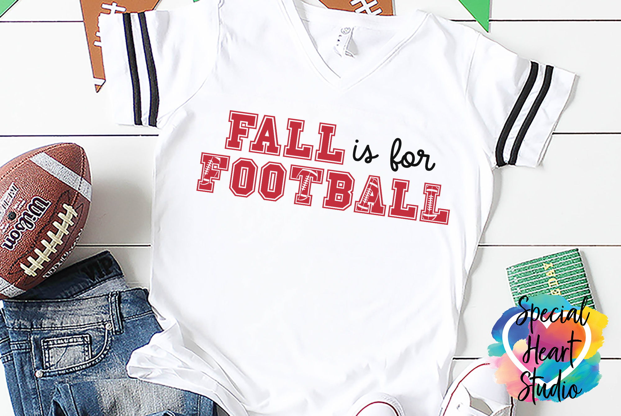 Fall is for Football - A football SVG Cut File example image 1