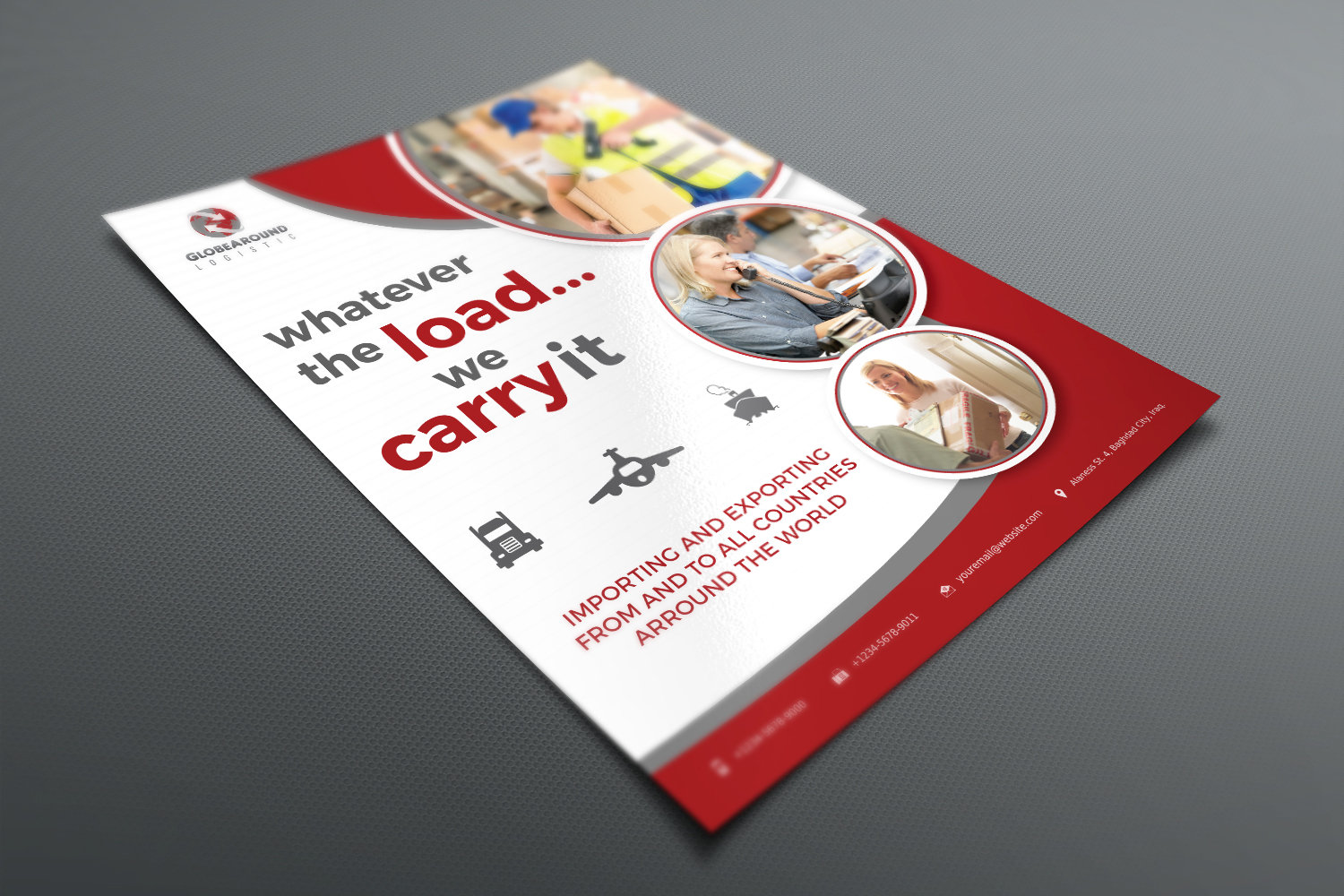Freight and Logistic Services Flyer Template example image 3