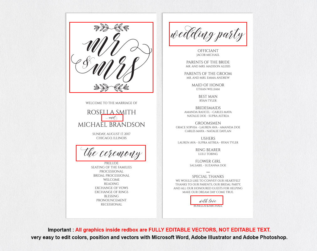 wedding program, TOS_14 example image 4