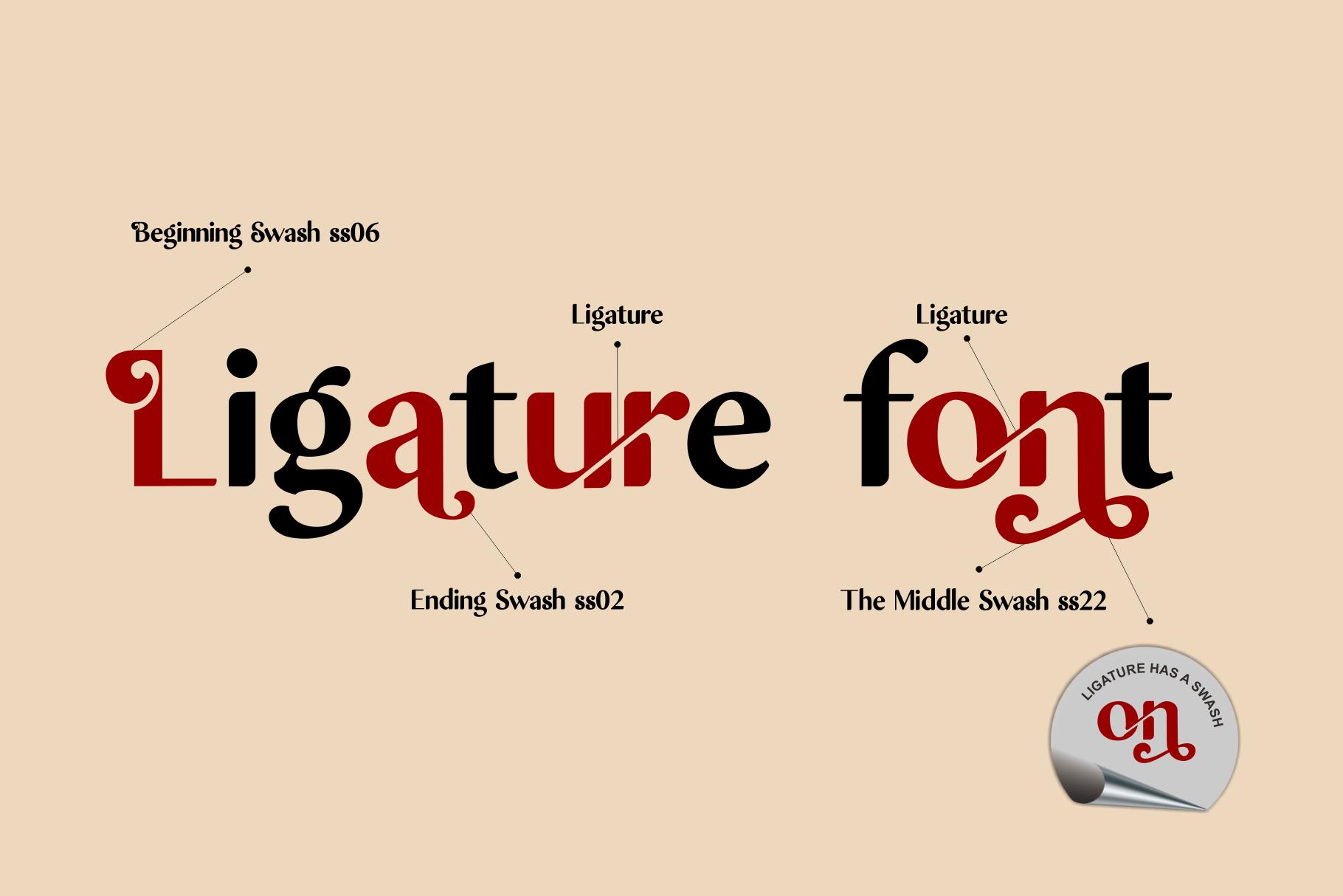 Asdaen Ligature example image 11