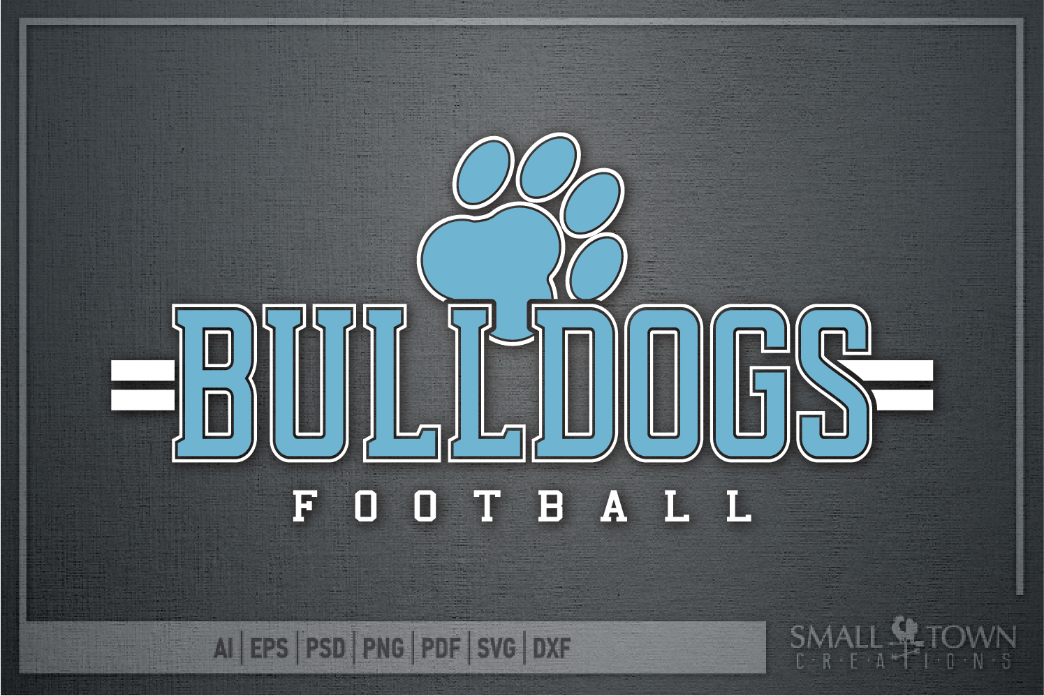 Bulldog Football, Paw Print, Team, PRINT, CUT & DESIGN example image 5