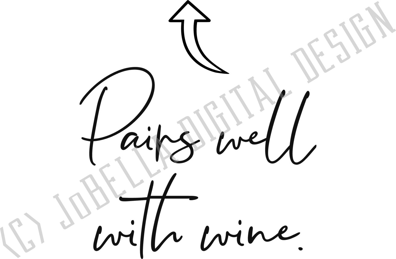 Funny Wine SVG and Printable T-Shirt Design example image 2