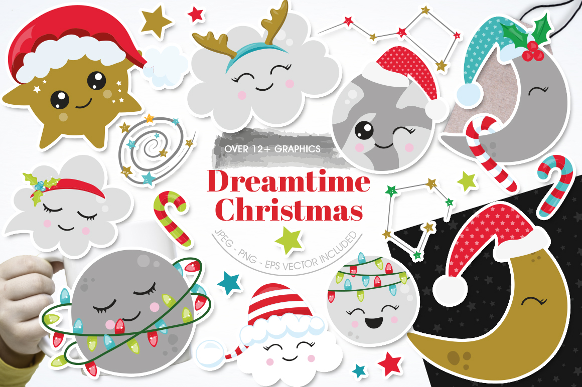 Christmas Dreams graphics and illustrations example image 1