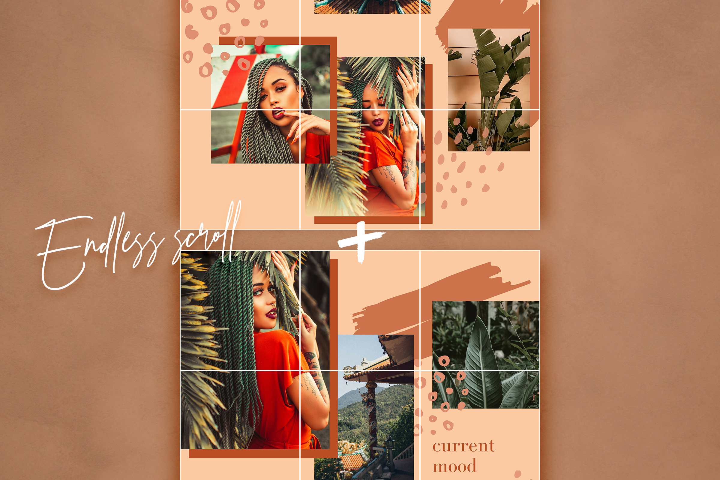 Instagram split grid template for Canva example image 6