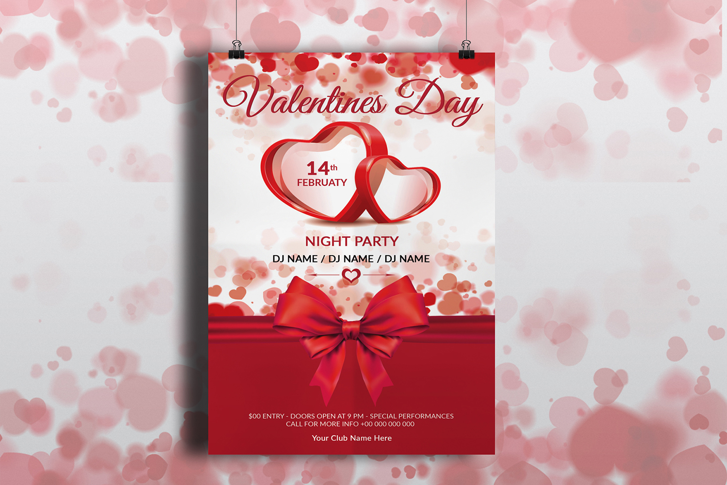 Valentine Day Party Flyer example image 4