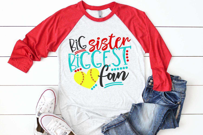 Soccer Sister - Big Sister Biggest Fan SVG example image 2