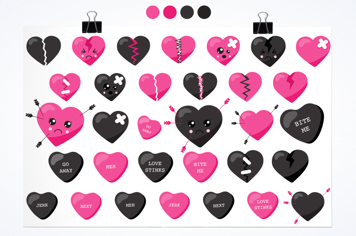 Broken Heart graphic and illustrations example image 2