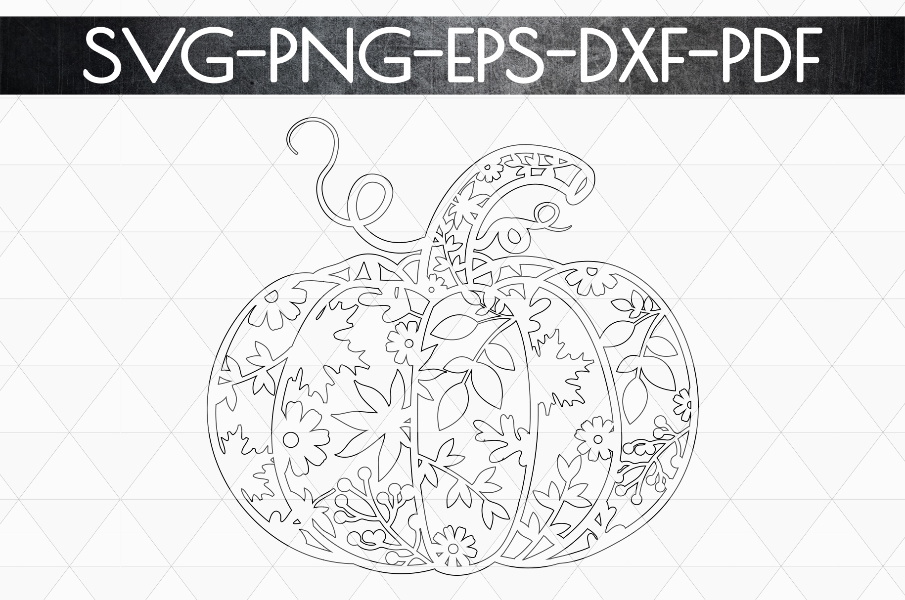 Pumpkin SVG Cutting File, Autumn, Fall DXF, EPS, PNG example image 6